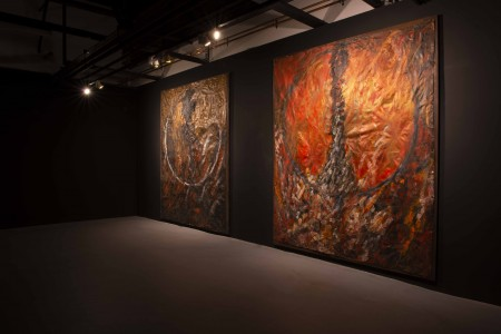 Installation view, GBH paintings